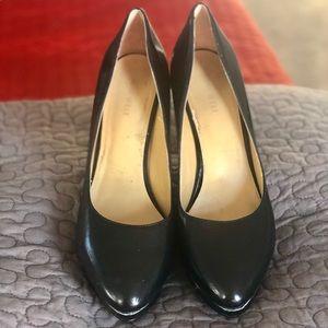 All Black platform heel